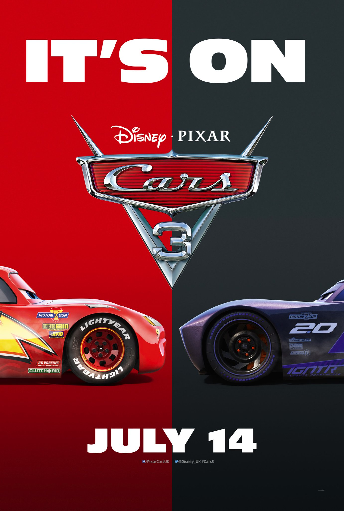 Cars 3 Movie Poster And Trailer Teaser Trailer
