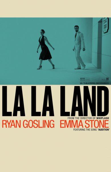 La La Land new blue and white poster