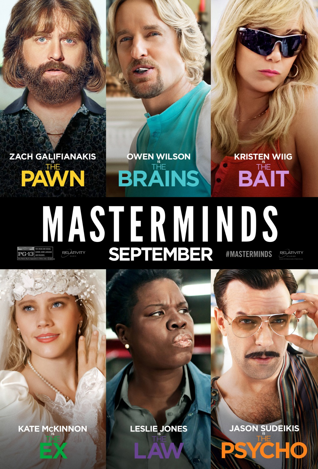 Image result for masterminds poster