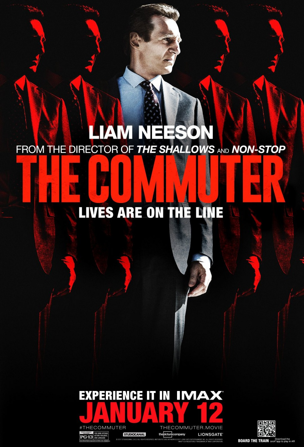 Trailer and Poster of The Commuter starring Liam Neeson